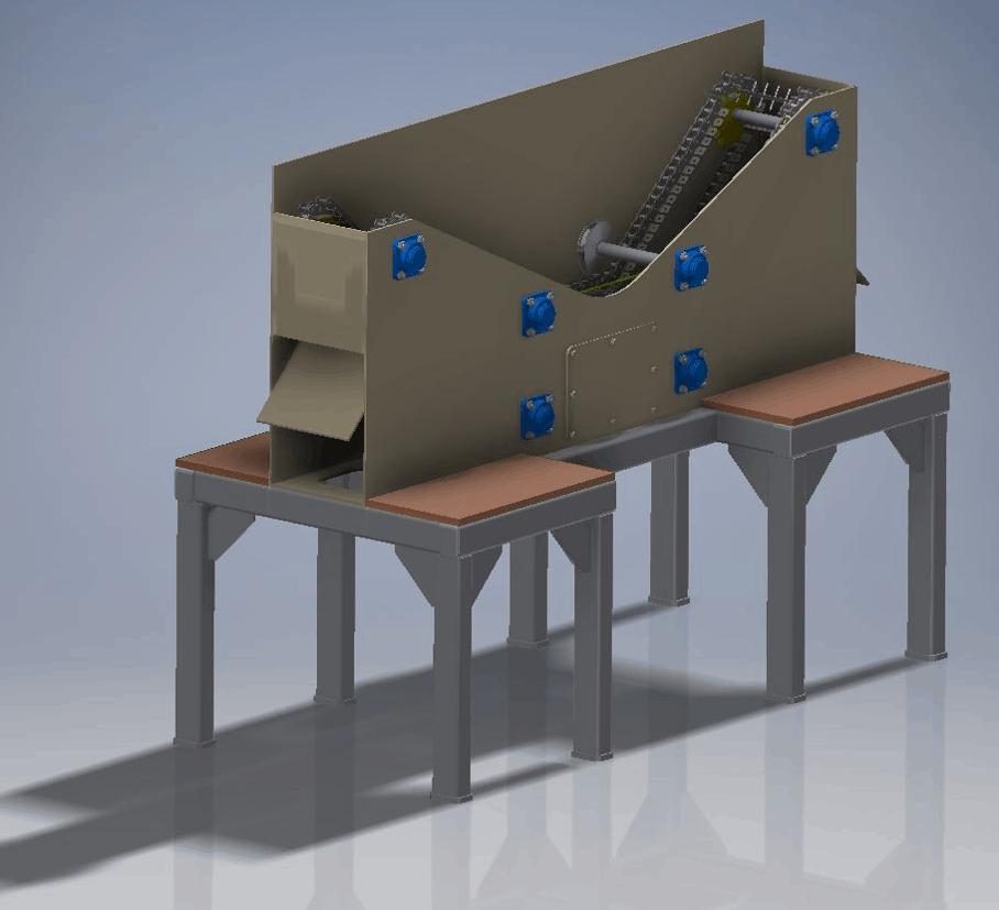 Inter-Metal alumínium hulladék szeparátor prototípus