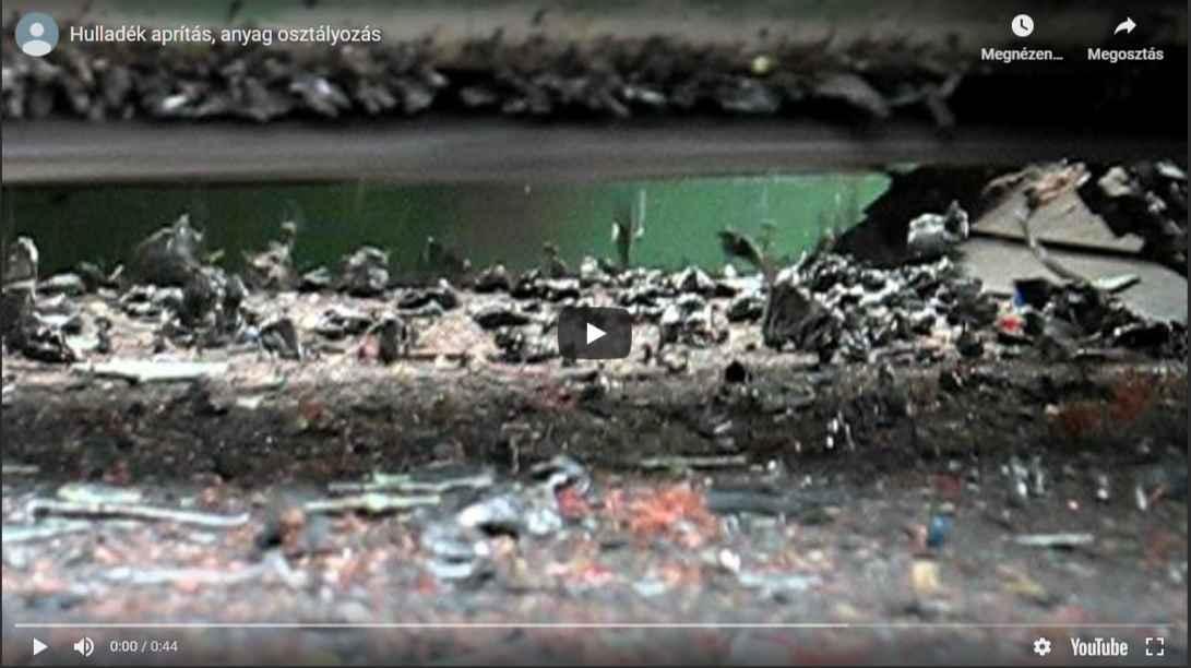 alumínium hulladék aprítás sredderrel kalapácsos törővel