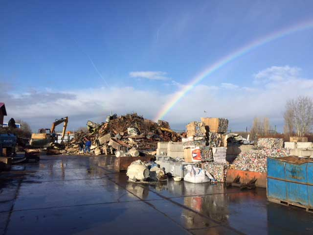 Rainbow at the Csorna scrap site