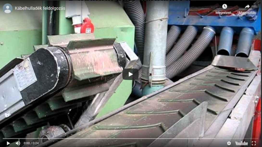 kábel hulladék feldolgozása daráló géppel
